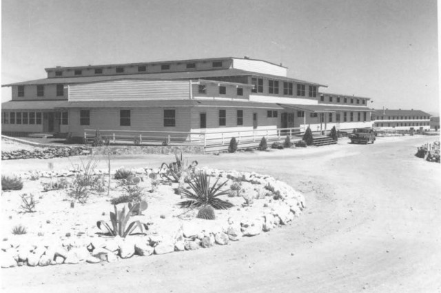 Mountain View Officers Club (MVOC), the WWII black officer's club at Fort Huachuca, 1943.  The building was the focus of extensive Section 106 consultation between the Army, regulators, and consulting parties in FY16-17.  These negotiations successfully led to a Programmatic Agreement and potential lease and rehabilitation proposal to preserve the National Register-listed building.