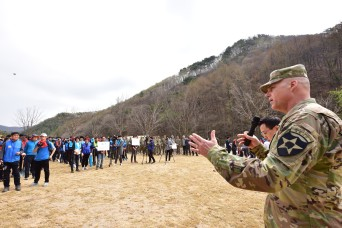 Community members plant trees in Anseong City