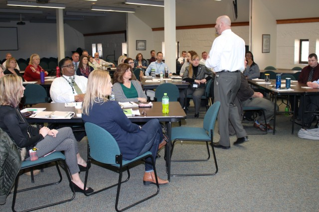 Jay Carr, executive director, Army Contracting Command-Rock Island, hosted the first of a series of Leadership Engagement events, in the Baylor Conference Room, March 15.