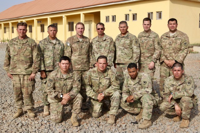 Twelve Soldiers from 1st Brigade Combat Team, 10th Mountain Division, and Security Assistance Training and Management Organization, deployed for seven weeks in Jaji, Nigeria, to train Nigerian Army infantry ground-level tactics, Feb. 2018.