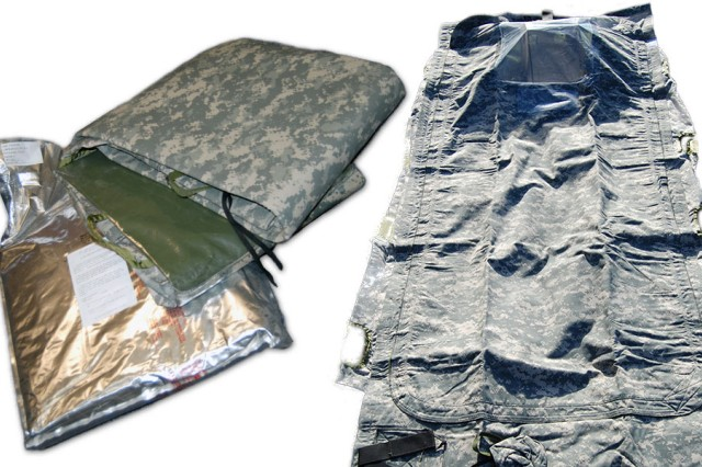 Used to protect uncontaminated or decontaminated patients from chemical agent exposure during movement through a contaminated area, the chem wrap is one component in the U.S. arsenal to combat threats from CBRN agents.An improved version of the chem wrap, first developed in the 1990s, is being produced at Pine Bluff Arsenal, Arkansas.