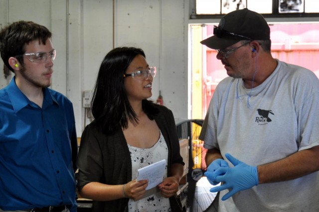 Crane Army Ammunition Activity Pathway interns learn from employees on the production line about how Crane Army produces and renovates ammunition for the Warfighter. To draw in new talent, Crane Army employs the Pathways Internship Program, which offers internships in the federal government and is open to students ranging from high school through post graduate school, as well as recent graduates.