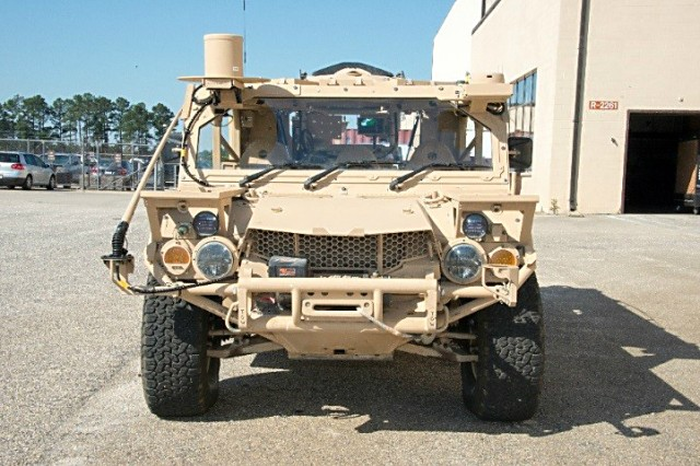 The Ground Mobility Vehicle 1.1 (GMV 1.1) is designed to be internally transportable via CH-47 Helicopter as well as U.S. Air Force C--130 Hercules and C-17 Globemaster III heavy lift aircraft.