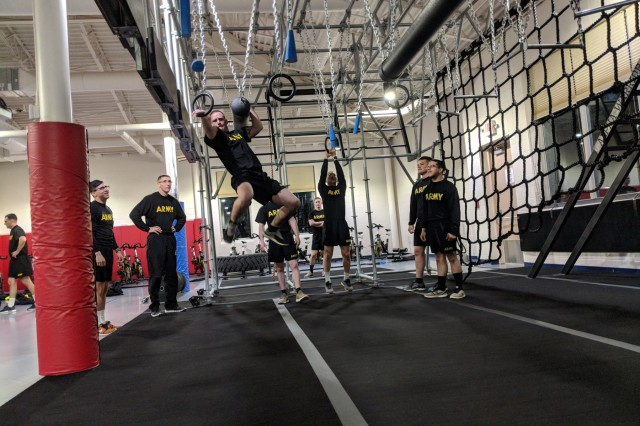 It's like an indoor playground for athletes - but only for those who enjoy sweating through a blistering array of obstacles with a focus on core strength and grip. The new Alpha Warrior Fitness Rig at Atkins Functional Fitness Facility can provide Fort Drum community members a full-body workout, Ninja Warrior-style.
