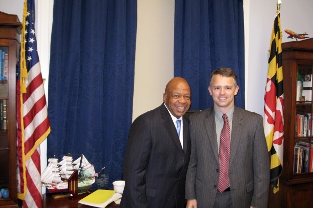 Rep. Elijah Cummings and Clark in Cummings' office in November 2010.