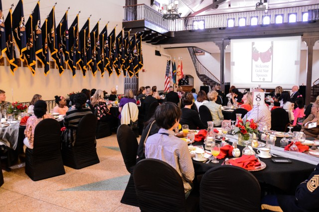FORT BENNING, Ga. (April 10, 2018) -- In commemoration of Gold Star Spouses Day and in recognition of its own community of this group of men and women, the Fort Benning Survivor Outreach Services held its annual Gold Star Spouses Brunch April 8 at the Benning Club at Fort Benning, Georgia. (U.S. Army photo by Megan Garcia, Maneuver Center of Excellence, Fort Benning Public Affairs)