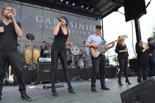 Gary Sinise and the LT Dan Band perform during the Invincible Spirit Festival at Brooke Army Medical Center April 5, 2018. Thousands of BAMC patients, family members and staff enjoyed food, family-friendly activities and music by Stolen Silver and Sinise and the LT Dan Band.