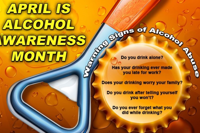 April is Alcohol Awareness Month.  Army Substance Abuse Program, or ASAP, is recognizing the observance by hosting variety of informational and educational events in the U.S. Army Garrison Benelux community.