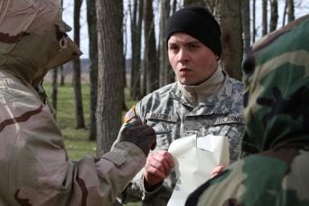 Indiana National Guard, mask at the ready
