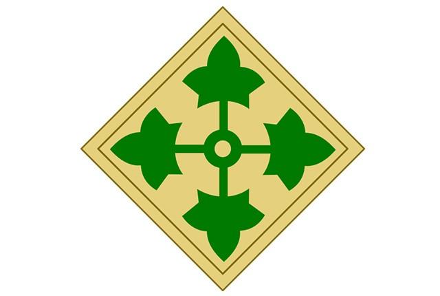 4th Infantry Division shoulder insignia