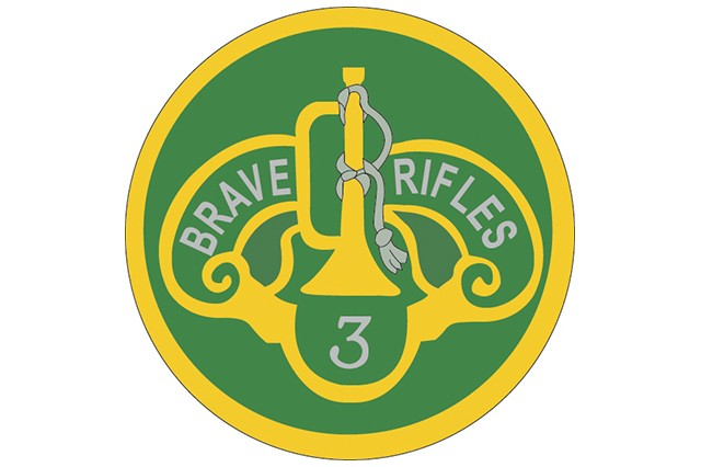 3rd Cavalry Regiment shoulder sleeve insignia.
