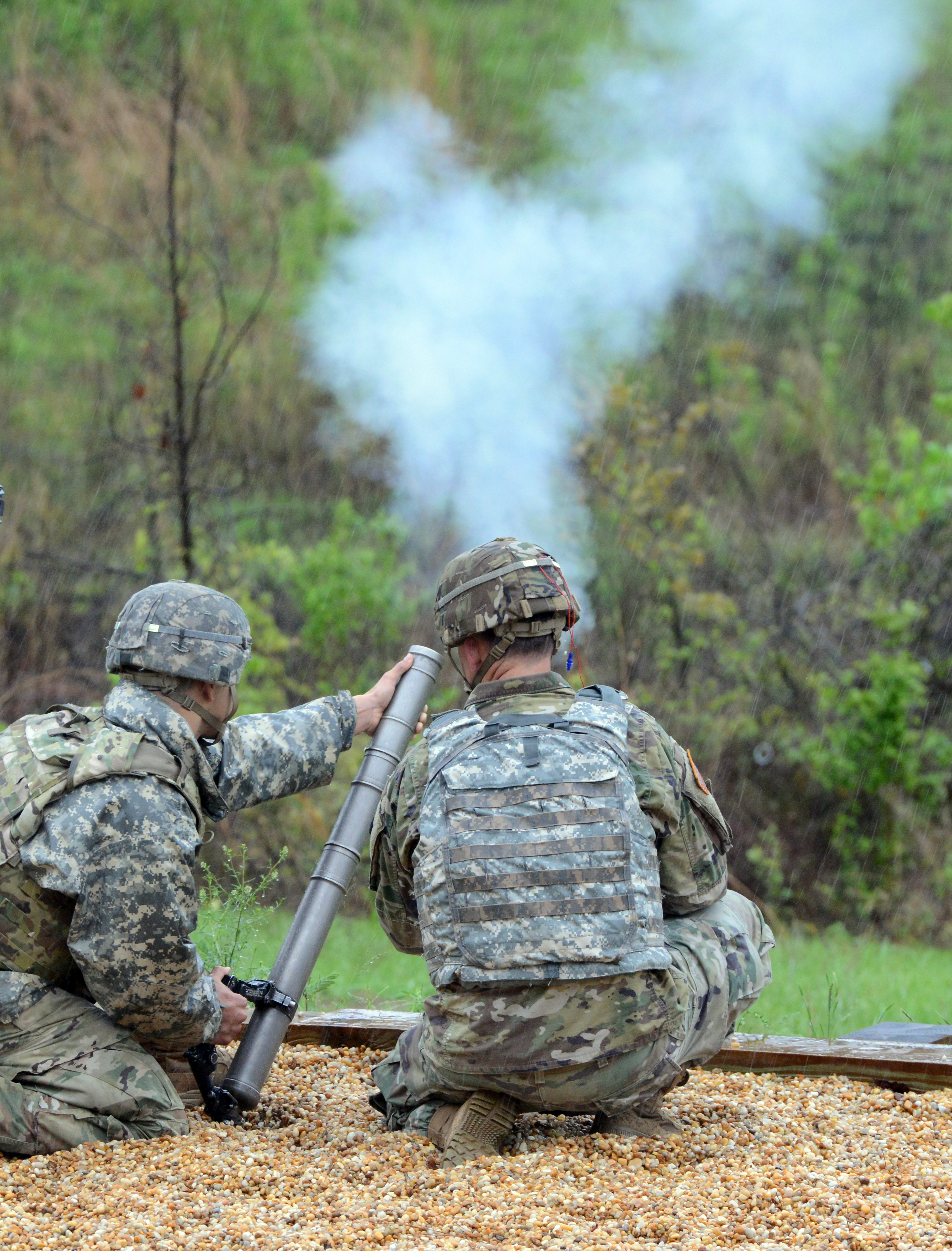 Soldiers live-fire 60mm mortar during inaugural Best Mortar