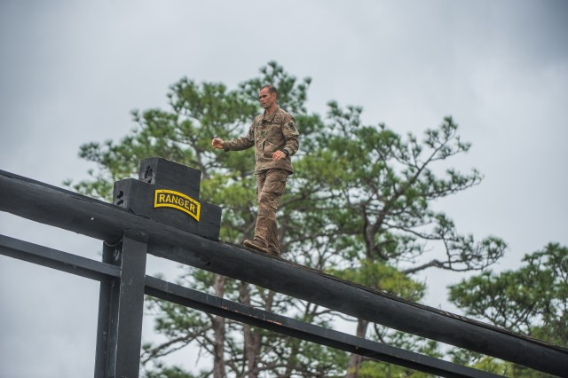 The remaining teams of Ranger-qualified Soldiers take part in several events to test physical endurance, mental agility, and technical and tactical skills for the 2018 Best Ranger Competition April 14 at Fort Benning, Georgia. The David E. Grange Jr. Best Ranger Competition is an annual event in its 35th iteration to determine the top-performing two-person Ranger team from units across the Army as well as sister services.