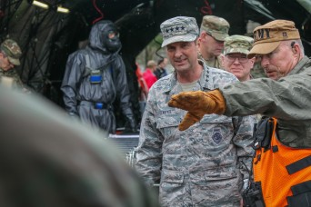 National Guard Chief Lengyel observes joint disaster training