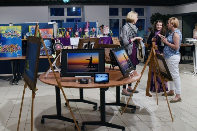 GARMISCH-PARTENKIRCHEN, Germany (April 16, 2018) - Fifteen local artists showed their talent in ceramics, charcoal, computer art, photography and painting in the 4th Annual Garmisch Community Art Show April 14 at the Pete Burke Community Center on Artillery Kaserne. (Marshall Center photo by Christine June)