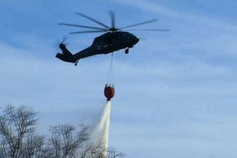 Oklahoma National Guard responds to wildfires in Western Oklahoma