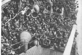NY Guard Soldiers survived subs and crowded ships deploying to France in 1918