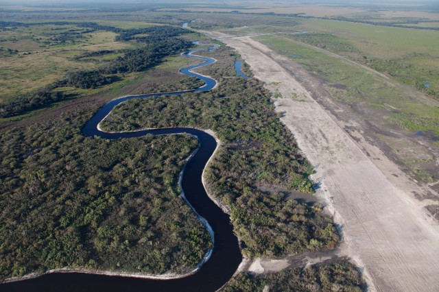 "The Army's theme for Earth Day 2018 is ""Sustain the Mission/Secure the Future."" This theme is emboldened by Jacksonville District's on-the-ground efforts to protect and preserve our environment on numerous fronts.For example, the Kissimmee River Restoration project (photographed above) is an ongoing Everglades restoration project that will restore approximately 40 square miles of river/floodplain ecosystem in South Florida."