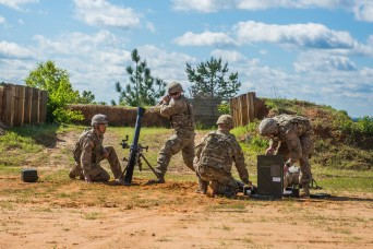 82nd Airborne team takes top honors at inaugural Best Mortar Competition