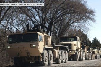 Oklahoma National Guard unit rolls with active duty partner
