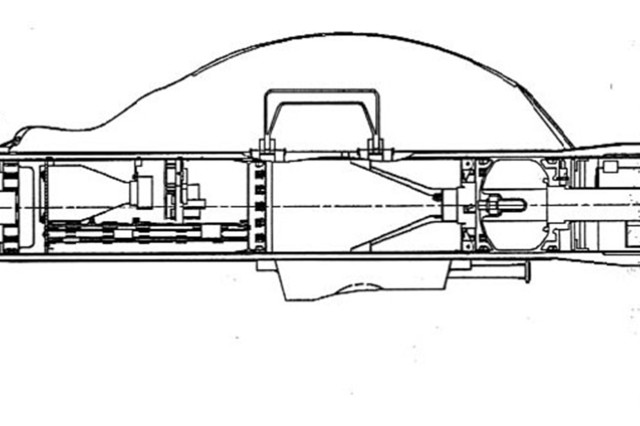 A line drawing of an early Javelin anti-tank missile. Halfway through the program's EMD phase, program leaders realized it would not be able to make either the objective or threshold weight required by the user in the requirement document. The weight issue nearly canceled production of the Javelin, which was needed to replace the legacy Dragon missile.