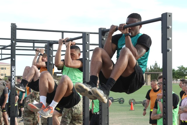 Soldiers assigned to 1st Stryker Brigade executed the proposed Army Combat Readiness Test at Ready First Field on Fort Bliss, Texas, April 17, 2018. Soldiers are assisting the Army with this pre-decisional testing that is pending senior Army leadership staffing and approval. The proposed ACRT is part of the Army's effort to optimize Holistic Health and Fitness and improve Soldier readiness.