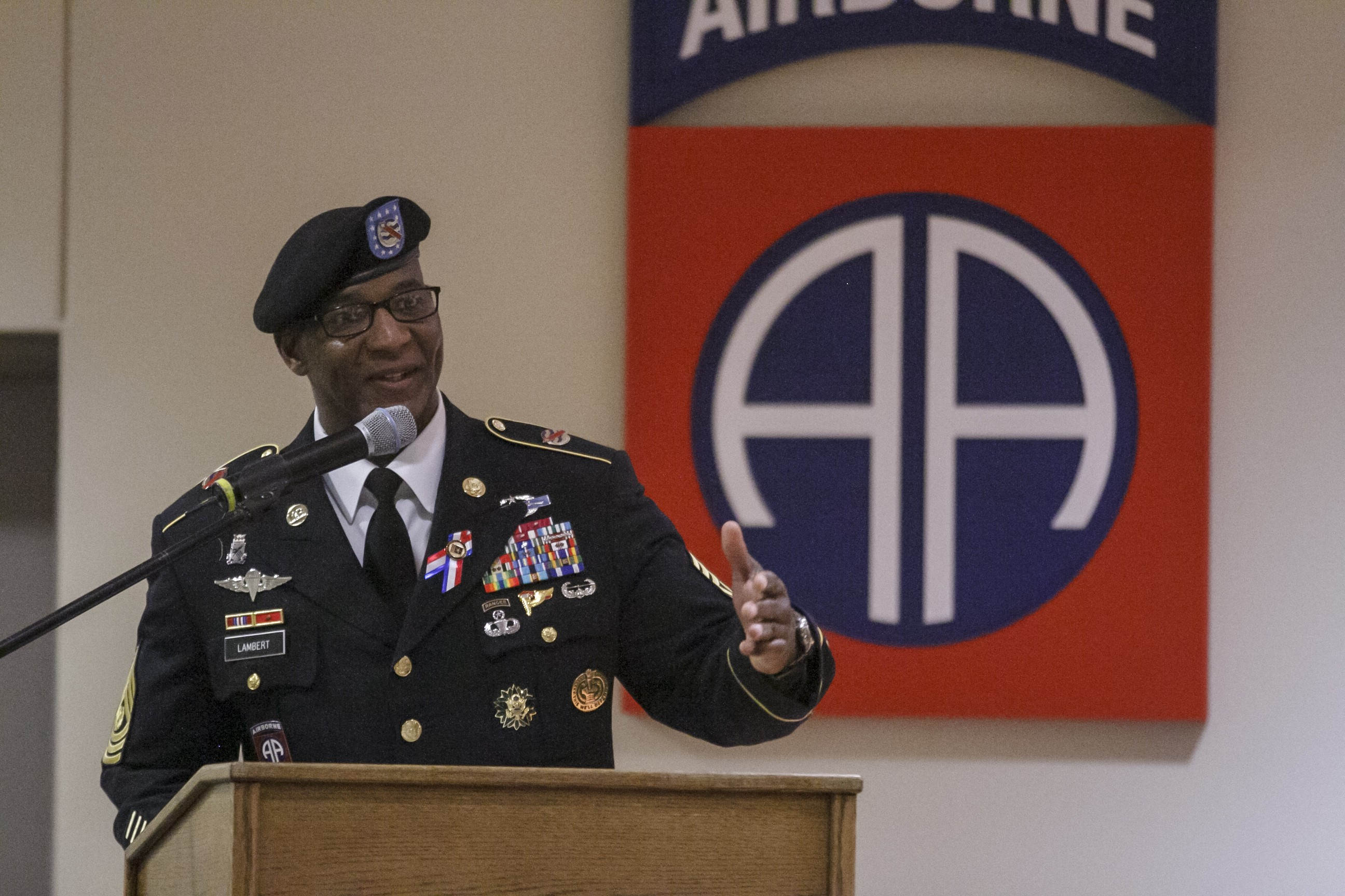 Command Sgt  Maj  Bryant Lambert Returns to the 82nd to Say