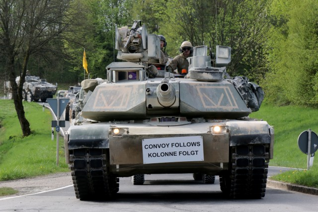 Largest tactical road march conducted on German roads in over 15 years