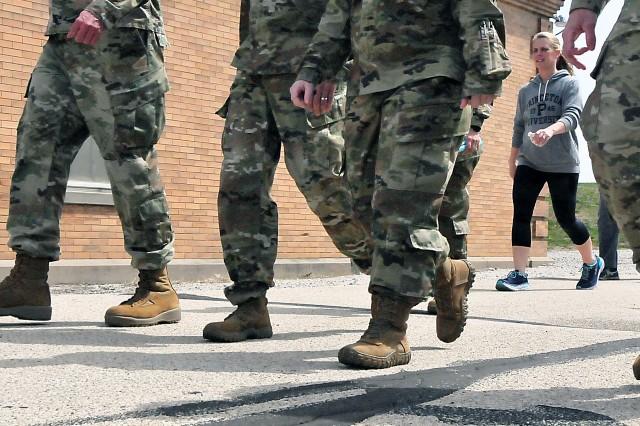 RIA personnel participate in SAAPM walk April 26. (Photo by Jon Micheal Connor, ASC Public Affairs)