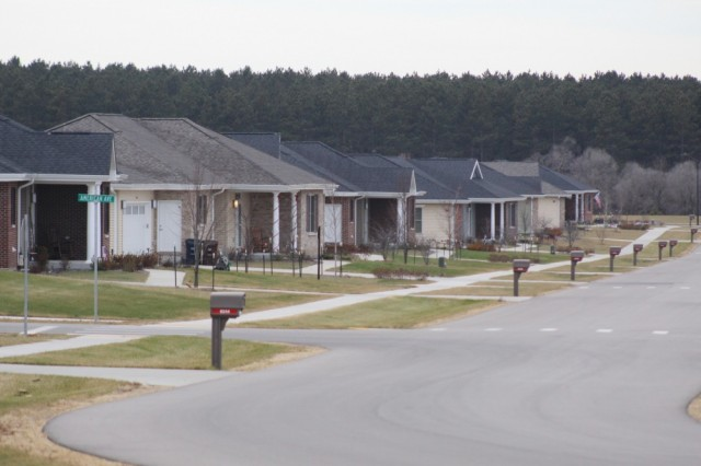 Some of the new homes built at South Post Housing area at Fort McCoy, Wis., are shown Dec. 1, 2017. New Army initiatives have resulted in more and better housing for Soldiers and Families.
