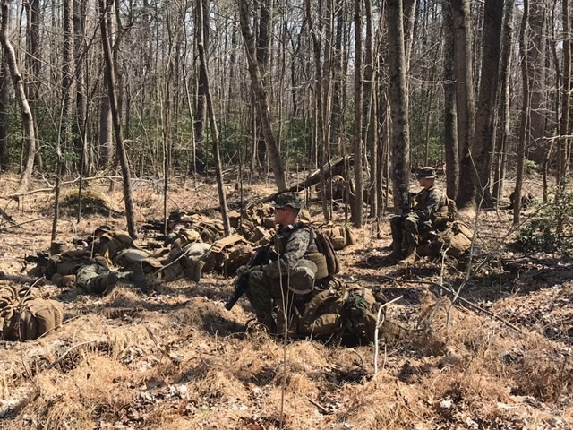 Marines with 1/25 participate in Mission Rehearsal Exercise