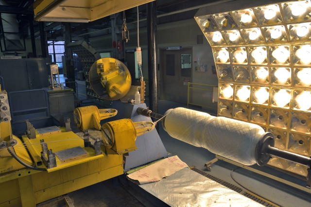 Bore evacuators for the Paladin howitzer system are being getting composite materiel applied at the Watervliet Arsenal.  These evacuators are relatively new to the field and were developed to reduce the weight of bore evacuators by nearly 50 percent.