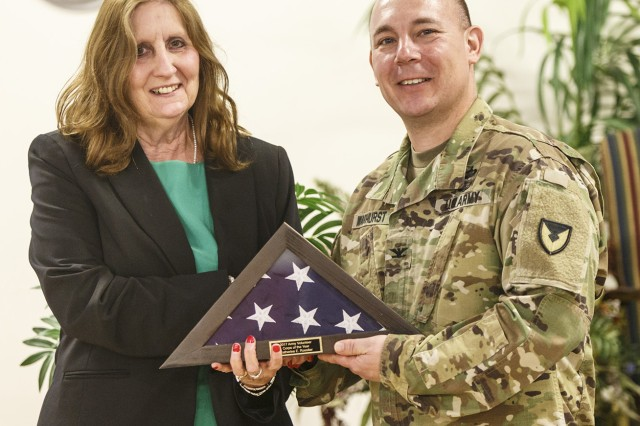 Catherine Rossiter, Army Volunteer Corps Volunteer of the Year for Anniston Army Depot