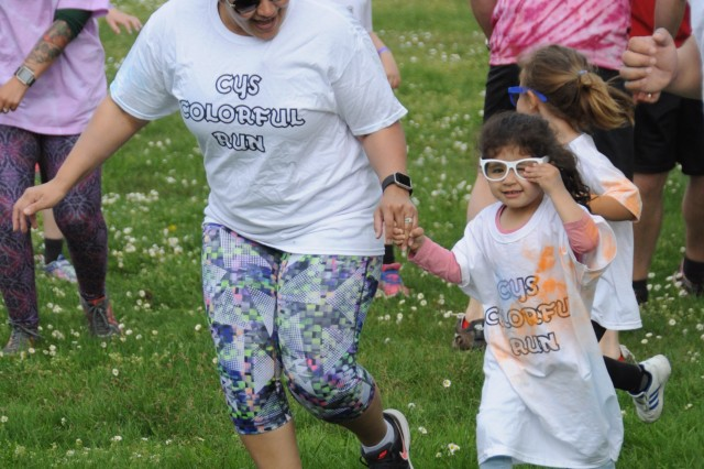 Child and Youth Services hosted a Colorful Run in celebration of Month of the Military Child April 27, 2018, on SHAPE, Belgium.