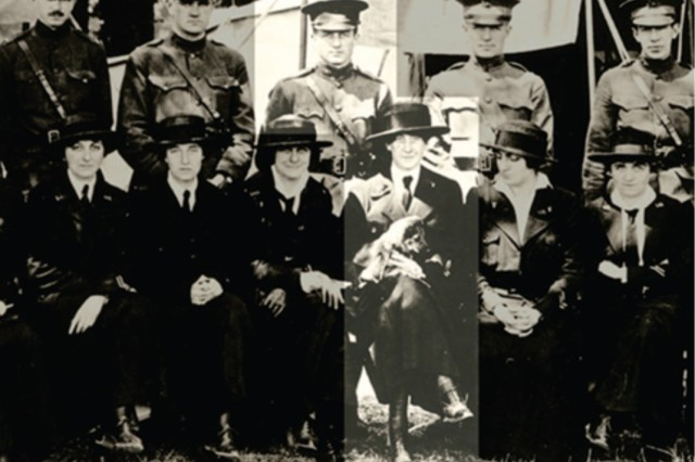 Personnel of Mobile Hospital 2. Jane Rignel, Chief Nurse, is highlighted with officers and nurses of Mobile Hospital No. 2.  Rignel was awarded the Citation Star for her valor on July 15, 1918 with Mobile Hospital No. 2.