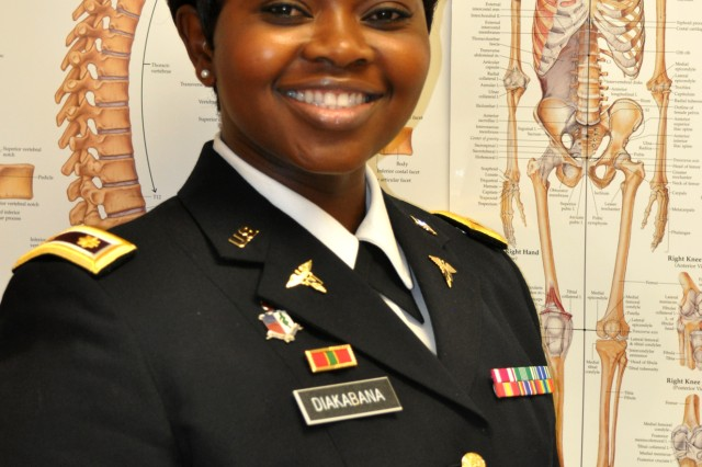 Maj. Mayamona Diakabana, a public health nurse, is stationed at Fort Knox, Kentucky. She has been an Army nurse for 17 years and contributed her thoughts on being an Army nurse. This week—National Nurses Week—we recognize and thank nurses like Maj. Diakabana and all others of the Army Nurse Corps who served with dignity and professionalism, courage and grace, past and present.