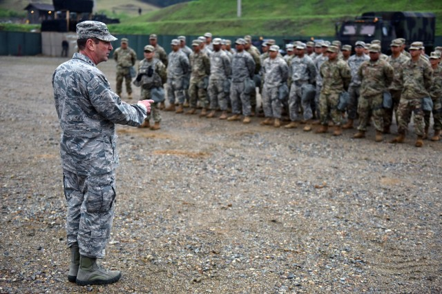"""We are raising our readiness,"" Air Force Gen. Joseph Lengyel, chief of the National Guard Bureau, said during visits with Guard members in South Korea, May 1-4, 2018. ""It's our job."""