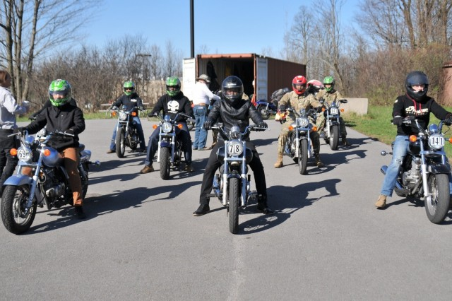There are roughly 300 licensed motorcyclists currently within the 10th Mountain Division (LI) at Fort Drum, New York, and that number is soon to rise as Soldiers take advantage of the free Motorcycle Safety Foundation training courses at Fort Drum. Completing the free Basic Rider Course is mandatory for all Soldiers before operating a motorcycle.