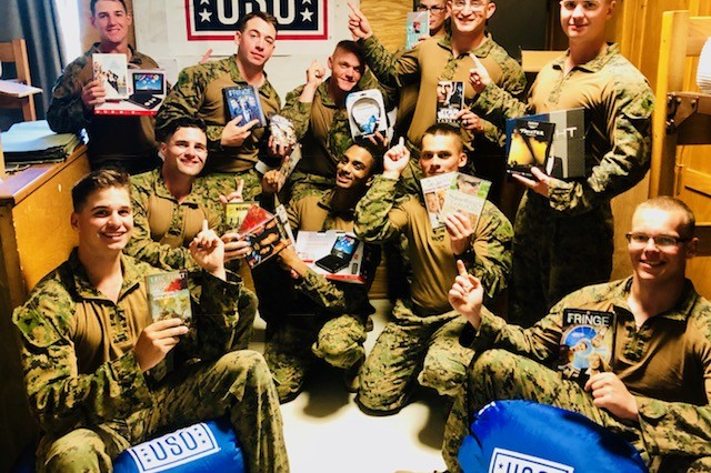 MIHAIL KOGALNICEANU, Romania -- U.S. troops deployed here as part of Operation Atlantic Resolve are enjoying home-entertainment-type items donated by the USO, including flat-screen televisions, DVDs, electronic gaming units, and arts and crafts kits.