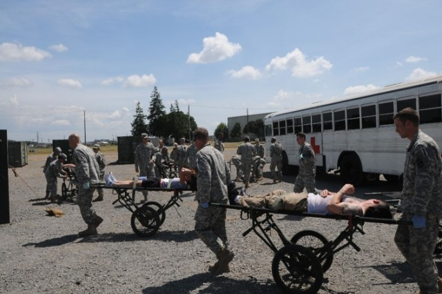 Soldiers exercise in Japan using equipment and supplies pulled from Army Prepositioned Stocks.