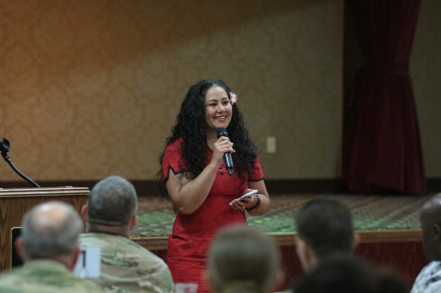 Lt. Col. Marie Slack, chief of the Senior Leader Training Division and Advanced Officer Training Division, and a native of Hawaii, was the guest speaker for Fort Jackson's Asian-Pacific American Heritage Month luncheon at the NCO Club.