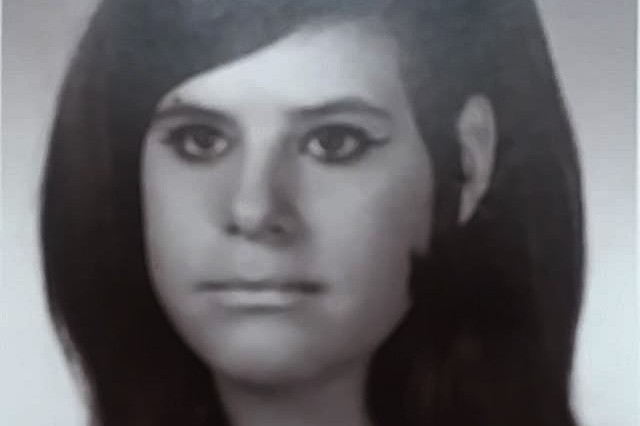 Cheryl Michener's high school yearbook photograph. Michener graduate in 1970 from Kenmore East High School in Tonawanda, New York. Six years later, Michener began her Federal service as a switchboard operator at the Niagara Falls Air Force Base.