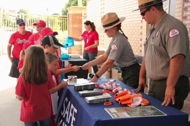 To help share the importance of water safety, we rely on the public, our water safety rangers and our partners to assist in getting the word out. This year we will attend several events conducting water safety outreach across four states. The Corps wants to remind people that life jackets save lives. So please wear it during your next outing. Check the Kansas City District's public safety and recreation events calendar to see where and when lake staff will be within a short drive of your community! http://www.nwk.usace.army.mil/Locations/ (Photo by U.S. Army Corps of Engineers, Kansas City District)