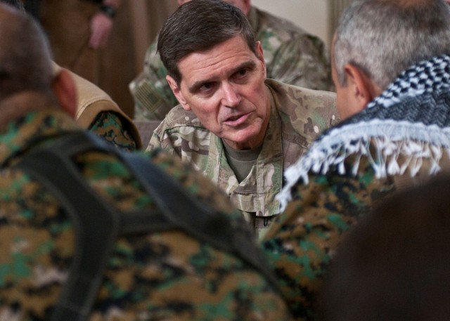 Coalition Generals Meet with SDF
