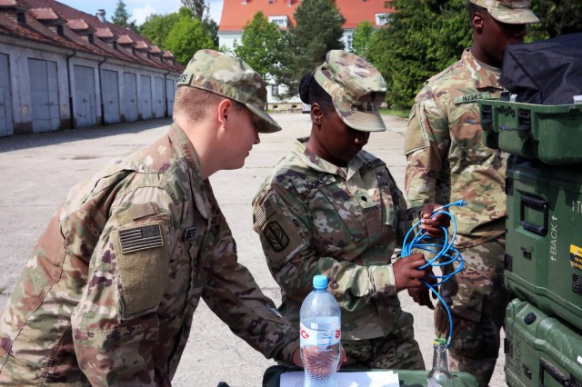 SCNG Soldiers arrive in Poland to provide signal support to US Army Europe