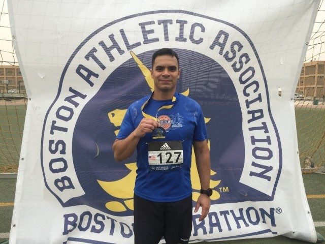 20th CBRNE Soldier braves Boston's bitter chill to finish seventh marathon