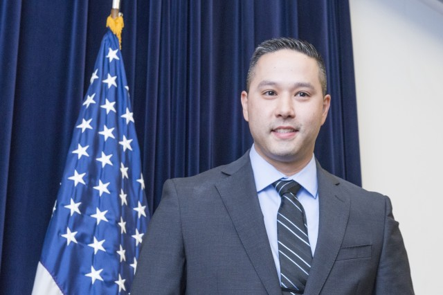 Robert Dilalla, team lead of the Infantry Combat Equipment Team at the Natick Soldier Research, Development and Engineering Center, served as the master of ceremonies for an Asian American Pacific Islander Heritage Month celebration held at NSRDEC on May 14.