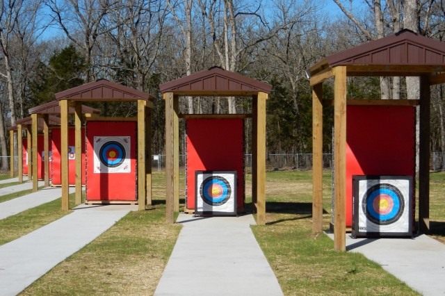Pomme de Terre Lake near Hermitage, Missouri recently completed a six-lane archery range. The range is the only one in the area is free to use. It is handicapped accessible and has two designated lanes for school competitions. With a covered platform, users aim at targets ranging from 20 to 50 yards or 10 and 15 meters. Photo by U.S. Army Corps of Engineers, Kansas City District