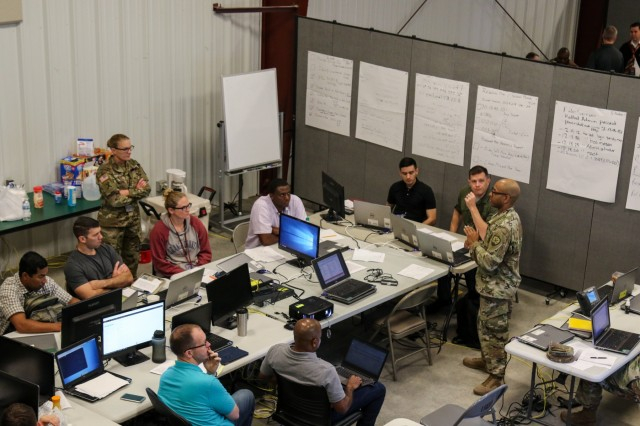 Mock cyber attacks as part of Cyber Shield 18