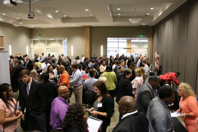 The AMCOM Job Fair at the Jackson Center.